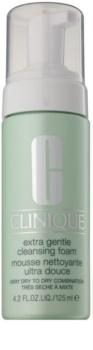 Clinique Extra Gentle Cleansing Foam delikatna pianka oczyszczająca do skóry suchej i bardzo suchej