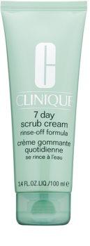 Clinique 7 Day Scrub Cream exfoliant pentru utilizarea de zi cu zi