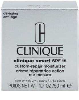 Clinique Clinique Smart dnevna vlažilna krema proti gubam za suho do zelo suho kožo SPF 15