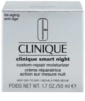 Clinique Clinique Smart hidratáló éjszakai krém a ráncok ellen száraz és nagyon száraz bőrre