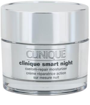 Clinique Clinique Smart creme hidratante de noite antirrugas para pele seca e mista