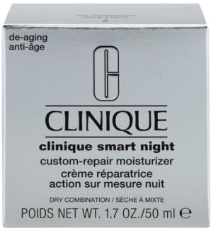 Clinique Clinique Smart feuchtigkeitsspendende Nachtcreme gegen Falten für trockene und Mischhaut