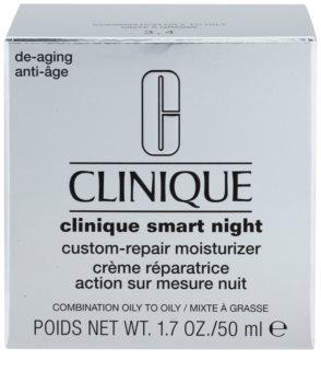 Clinique Clinique Smart feuchtigkeitsspendende Nachtcreme gegen Falten für gemischte und fettige Haut