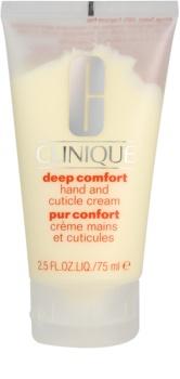 Clinique Deep Comfort globinsko vlažilna krema za roke, nohte in obnohtno kožico
