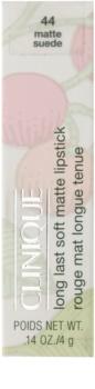 Clinique Long Last Soft Matte Lipstick dlouhotrvající rtěnka s matným efektem