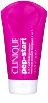 Clinique Pep-Start peelingový čistiaci gél 2 v 1