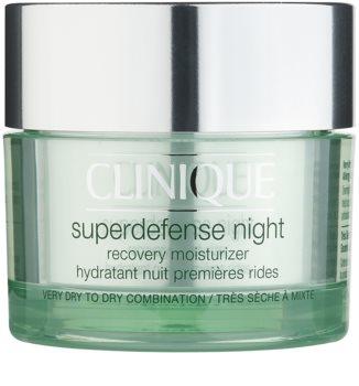 Clinique Superdefense nawilżający krem na noc przeciw pierwszym oznakom starzenia skóry