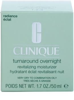 Clinique Turnaround noční revitalizační krém pro suchou a smíšenou pleť