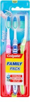 Colgate Extra Clean Medium Toothbrushes 3 pcs