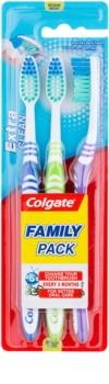 Colgate Extra Clean zubné kefky medium 3 ks