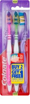 Colgate Zig Zag cepillo de dientes medio 3 uds