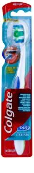 Colgate 360°  Whole Mouth Clean зубна щітка середньої жорсткості