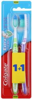 Colgate Extra Clean spazzolini da denti medio duri 2 pz