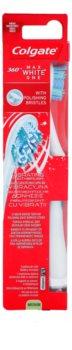 Colgate Max White One 360° Vibrationszahnbürste mit Batterie Medium