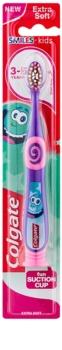 Colgate Smiles Kids escova de dentes para criança com copo de sucção extra suave