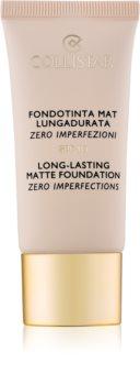 Collistar Foundation Zero Imperfections стійкий матуючий тональний крем SPF 10