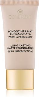 Collistar Foundation Zero Imperfections dlhotrvajúci zmatňujúci make-up SPF 10