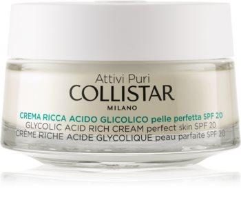 Collistar Pure Actives Glycolic Acid hranilna krema za obnovo gostote kože s posvetlitvenim učinkom