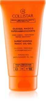 Collistar Sun Protection gel op oliebasis voor snel en langdurig bruinen SPF 10
