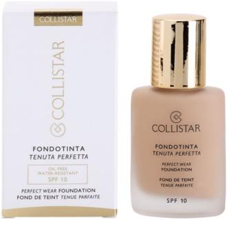 Collistar Foundation Perfect Wear vízálló folyékony make-up SPF 10