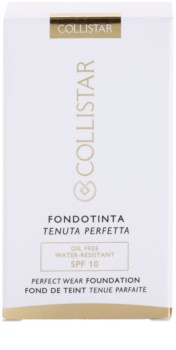 Collistar Foundation Perfect Wear Base líquida à prova de água SPF 10