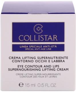 Collistar Special Anti-Age crème liftante nourrissante contour des yeux et lèvres