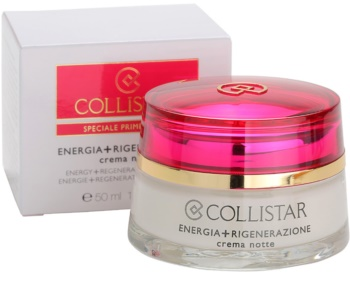 Collistar Special First Wrinkles crema de noapte regeneratoare pentru fermitate pentru piele sensibila