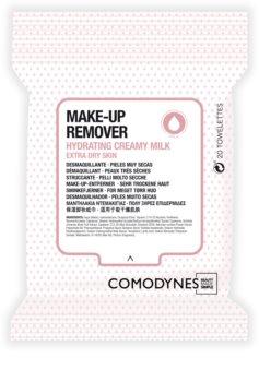Comodynes Make-up Remover Creamy Milk odličovací ubrousky pro velmi suchou pleť