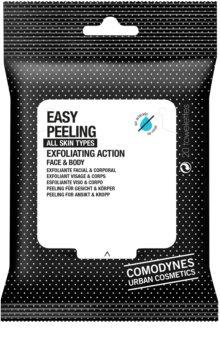 Comodynes Easy Peeling toallitas exfoliantes para el rostro y el cuerpo
