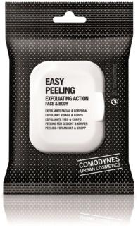 Comodynes Easy Peeling exfoliační ubrousky na obličej a tělo