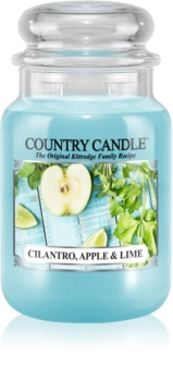 Country Candle Cilantro, Apple & Lime dišeča sveča  652 g