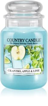 Country Candle Cilantro, Apple & Lime lumânare parfumată  652 g
