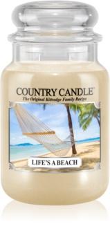 Country Candle Life's a Beach vonná sviečka 652 g