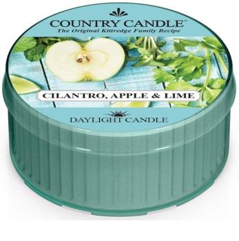Country Candle Cilantro, Apple & Lime čajová sviečka