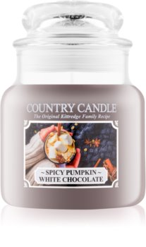 Country Candle Spicy Pumpkin White Chocolate scented candle