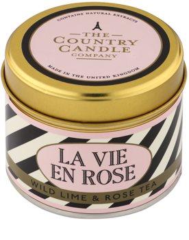 Country Candle Wild Lime & Rose Tea vela perfumado   Em placa