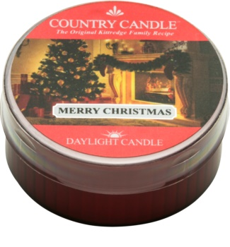 Country Candle Merry Christmas čajna sveča