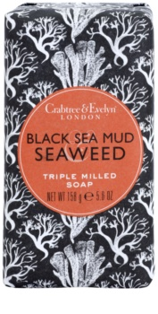 Crabtree & Evelyn Black Sea Mud & Seaweed luxuoso sabão com algas marinhas e barro