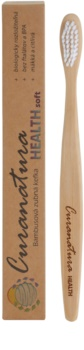 Curanatura Health escova de dentes de bambu soft