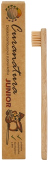 Curanatura Junior Bamboo Toothbrush for Kids Extra Soft