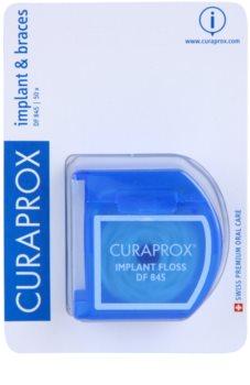 Curaprox DF 845 dentální nit na rovnátka a implantáty