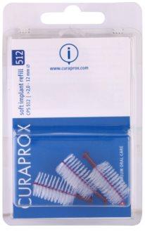 Curaprox Soft Implantat CPS escovas interdentais de reposição para implantes 3 unid.
