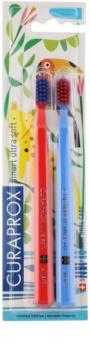 Curaprox 7600 Smart Ultra Soft Jungle Edition zubné kefky 2 ks pre deti