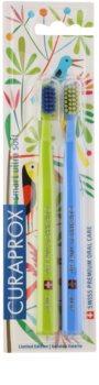 Curaprox 7600 Smart Ultra Soft Jungle Edition szczoteczki do zębów 2 szt. dla dzieci