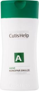 CutisHelp Health Care A - Acne Emulsie de canepa pentru curatare pentru ten acneic