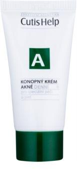 CutisHelp Health Care A - Acne crème de jour au chanvre pour peaux à problèmes, acné