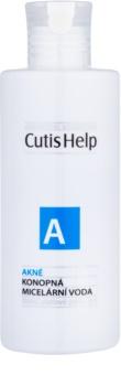 CutisHelp Health Care A - Acne eau micellaire au chanvre 3 en 1 pour peaux à problèmes, acné