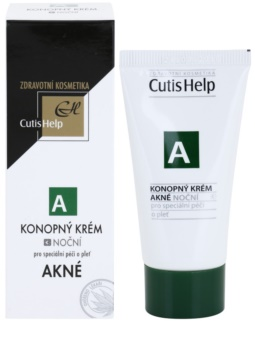 CutisHelp Health Care A - Akné konopný nočný krém pre problematickú pleť, akné