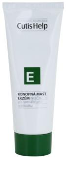 CutisHelp Health Care E - Eczema pomada de noche de cáñamo para reducir los síntomas del eczema para rostro y cuerpo