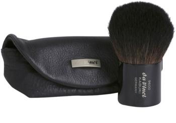 da Vinci Kabuki pensula pentru aplicarea pudrei geanta din piele
